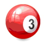 3 billiard ball