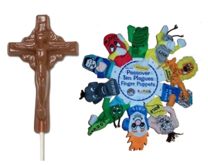 yes, there are indeed cruxifix chocolate molds and plague finger puppets.  Yay, dead people! Yeesh.