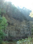 cliffs of insanity about 150 feet