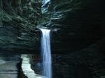 path behind falls