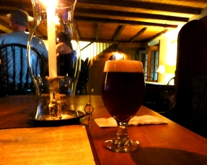 A glass of the kriek