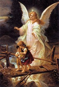 had this image in my room when growing up. Always wondered what the angel was doing when kids did get hurt.