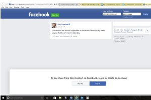 facebook screen capture