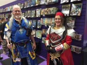the two of us taken by the kind folks at the Paizo booth :)