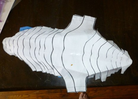 paper pattern for the staff head.