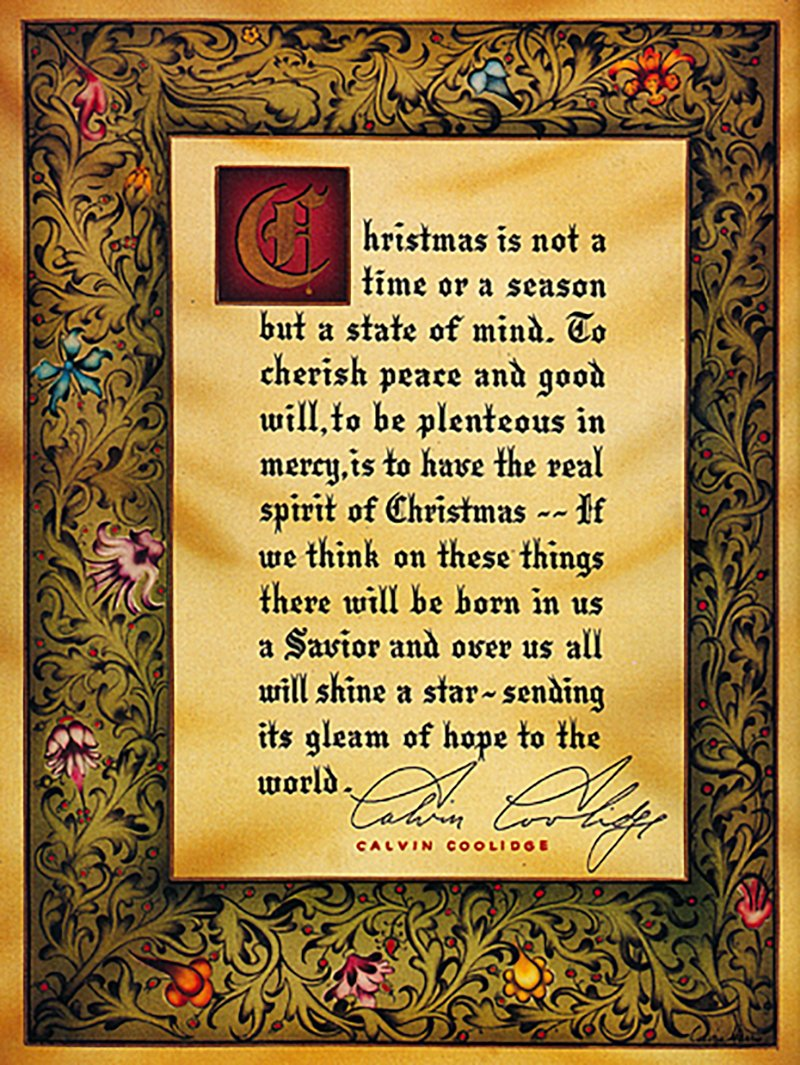 calvin coolidge xmas card